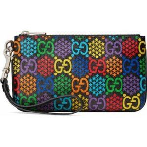 NWT Gucci GG Psychedelic Wristlet Zip Pouch
